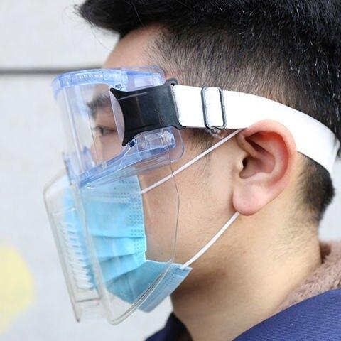 【樂天優選】防護面罩全臉面部防護防飛濺防灰塵打磨沖擊透明廚房防護面具面屏
