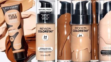 全美開架品牌最持色、每七秒售出一瓶的露華濃超持色輕透vs.十足完美粉底液,戴口罩不脫妝大挑戰!