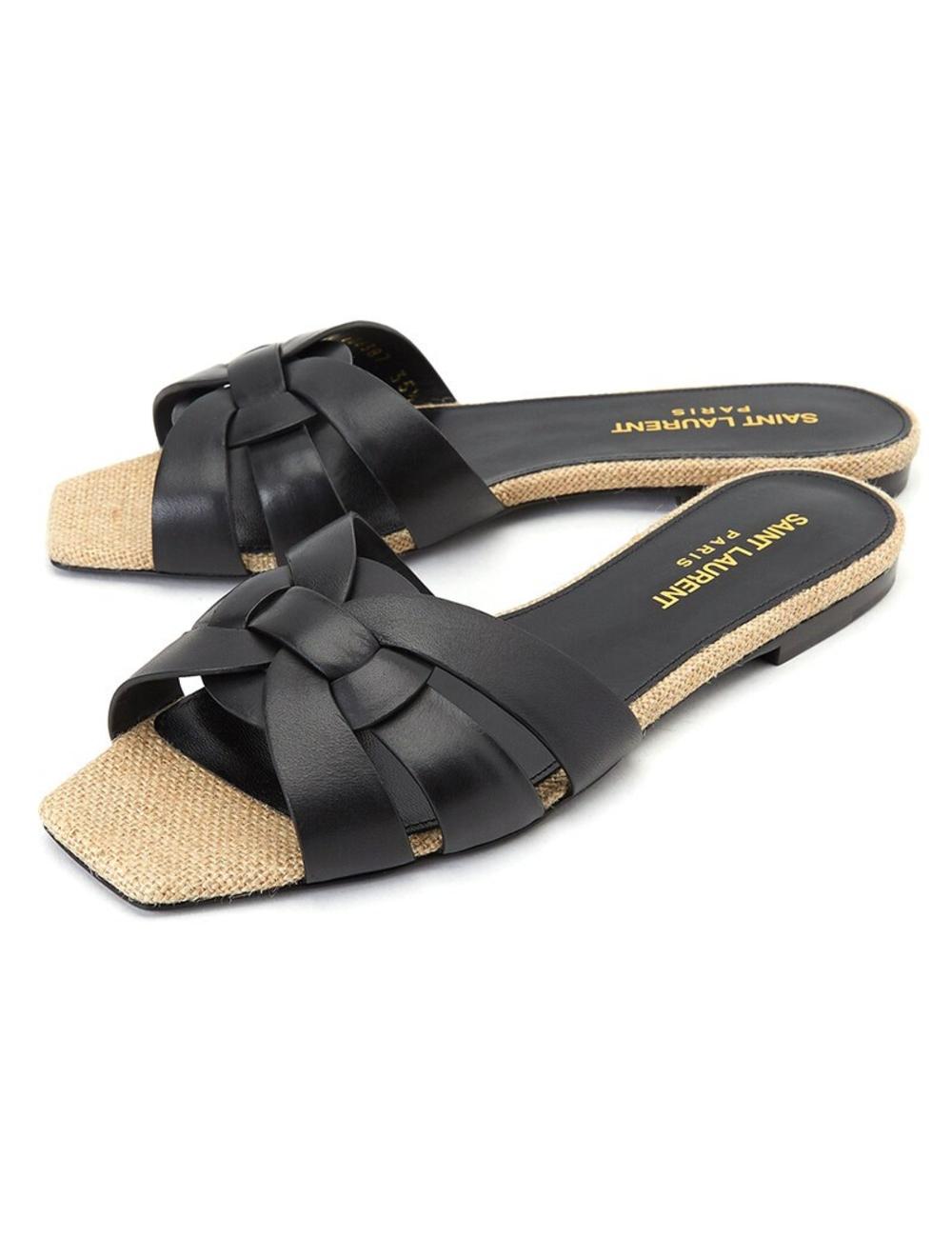 聖羅蘭拖鞋 類別:女性>鞋>涼鞋/拖鞋>拖鞋 年份:假 顏色代碼(RGB代碼):#181718 性別:女性