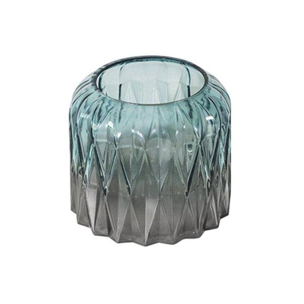 大號 干花 花瓶 玻璃 透明 漸變 花瓶