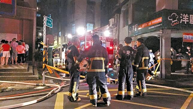新北市中和區景安路一處民宅3樓昨晚發生一起火警,造成一死一傷,疑似有人為縱火的可能,失火地點已由警消拉起封鎖線進行調查中。