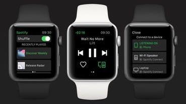 不用帶 iPhone 也能聽!Spotify 推出 Apple Watch 獨立應用程式