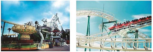 在京阪電車車廂內,還會張貼款海報,包括破壞枚方公園的巨人場景。(互聯網)