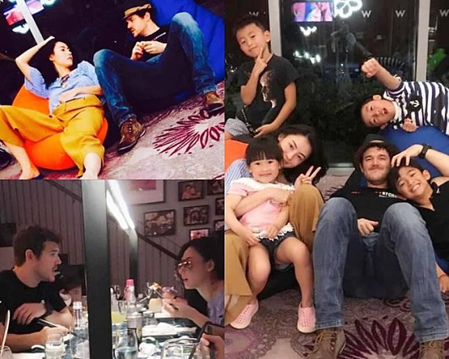 栢芝於2017在社交網放上與Leo的生活照。(資料圖片)