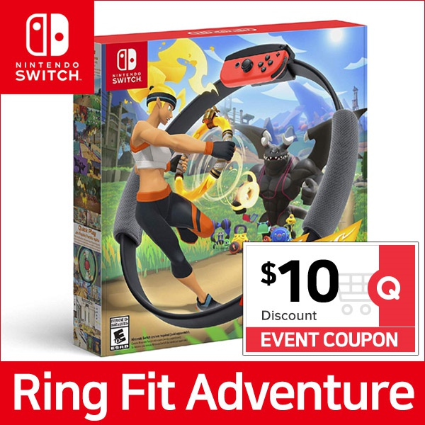 Nintendo Switch Ring Fit Adventure Game Title + Ring-Con + Leg Strap Set