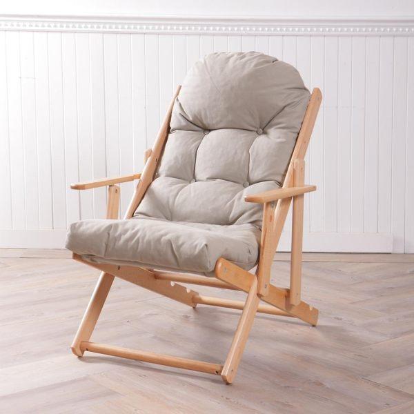 ‧ 實木三段式傾仰自在調整 ‧ 靠墊柔軟有彈性,享受悠遊自在時光