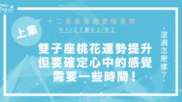 【01/27-02/02】十二星座每週愛情運勢 (上集) ~雙子座桃花運勢提升,但要確定心中的感覺需要一些時間!