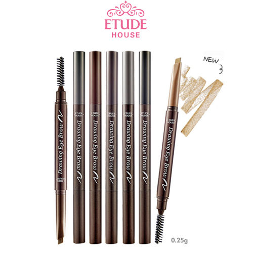 現貨 韓國 超萌美妝品牌ETUDE HOUSE素描高手造型眉筆0.25g 眉筆+眉刷 代購