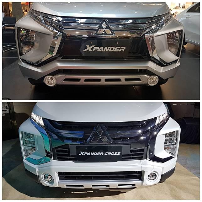 Bentuk bumper dan lampu depan Mitsubishi Xpander Cross vs Xpander