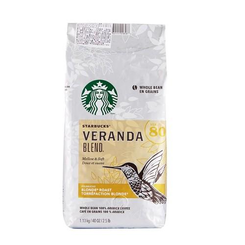 商品敍述 選自拉丁美洲咖啡豆 柔和的可可風味 輕烘烤的核果香氣 黃金烘焙 體度輕盈 風味甘醇 品名 STARBUCKS 黃金烘焙綜合咖啡豆 1.13公斤 商品重量 1.13公斤 成分 烘焙咖啡豆 (烘