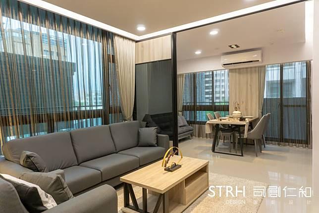 開放式的客廳與餐廳設計