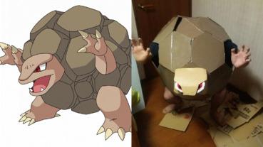 日本網友 cosplay 神奇寶貝「隆隆岩」 完成那一刻也虛脫了吧...