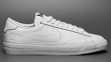 小閃電加持 fragment design x Nike 聯名 Zoom Tennis Classic AC 全白配色曝光