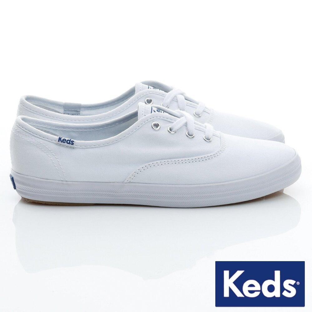 【領券滿1200再折120】KEDS W110002 經典長青帆布鞋 白鞋綁帶平底鞋