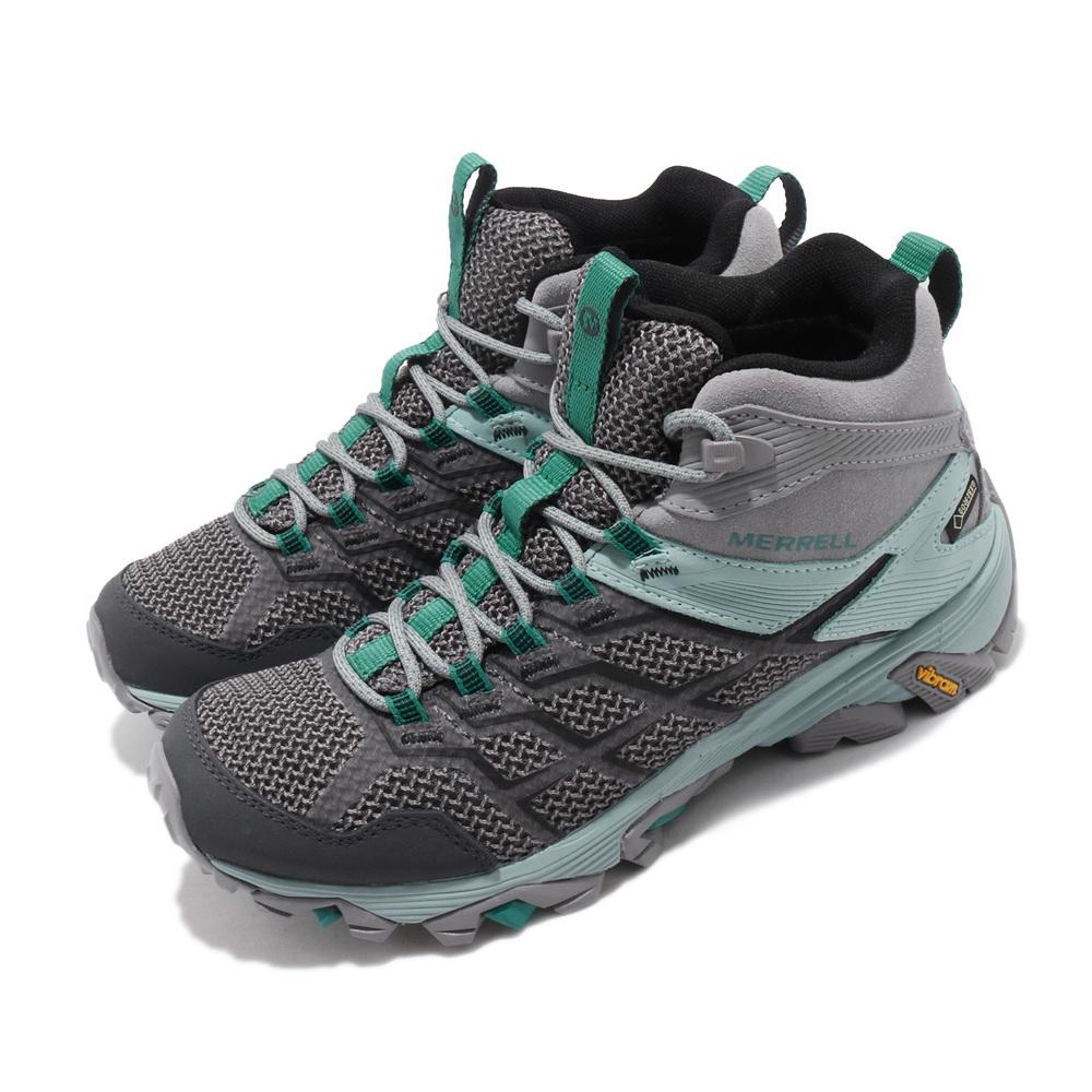 戶外防水運動鞋品牌:MERRELL型號:ML77480品名:Moab FST 2 Mid GTX 配色:灰色,綠色