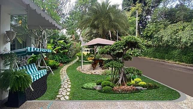 Menengok Taman Rumah Raffi Ahmad yang Indah dan Mewah