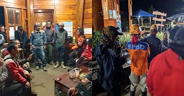 Hutan Gunung Panderman terbakar, ini 7 potret evakuasi pendaki