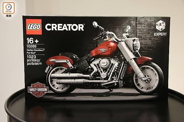 LEGO 10269 Harley-Davidson Fat Boy現已上市,全副共有1,023塊零件。(盧展程攝)
