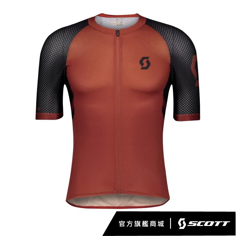SCOTT RC Premium Climber 巔峰者車衣採用全拉鍊平針織面料製成,符合人體工學的剪裁設計,完美對應一個公路選手的運動和需求,背後採用3個口袋的經典設計,包含一個防水拉鍊口袋,滿足騎
