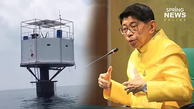 """""""วิษณุ""""ท้า บ.ก่อสร้างบ้านกลางน้ำฟ้องศาลระหว่างประเทศ ยัน กองทัพเรือ มีอำนาจรื้อ"""
