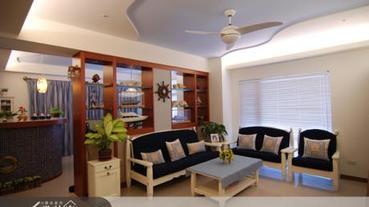居家燈光趣味設計 水族箱也能成為入門玄關燈柱