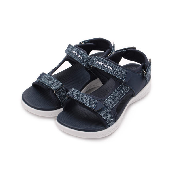 AIRWALK 牛仔布輕量運動涼鞋 深藍 A922230480 女鞋 鞋全家福