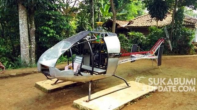 Helikopter rakitan Jujun Junaedi, warga Sukabumi (sukabumiupdate.com)