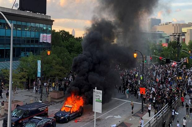 AS Diguncang Kerusuhan Hebat, Media China: Nikmati Pemandangan Ini