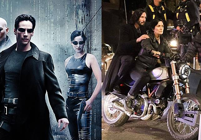 neo trinity the matrix keanu reeves morpheus carrieanne moss movie posters laurence fishburne 20_www.wallpapername-horz