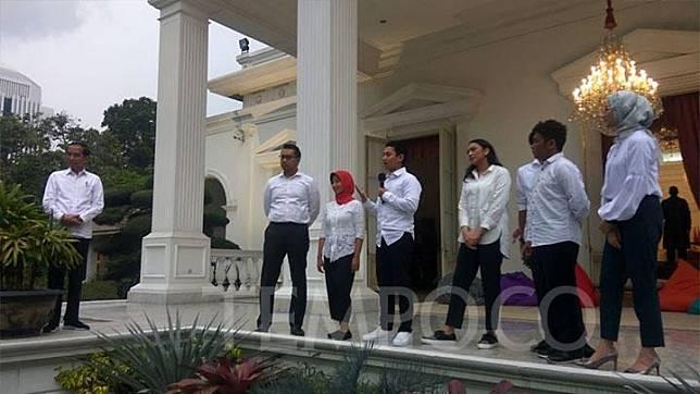 President Joko Widodo or Jokowi announced his seven special staffers at the Merdeka Palace, Jakarta, Thursday, November 21, 2019. TEMPO/Ahmad Faiz