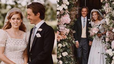英國女王伊莉莎白二世孫女碧翠絲公主結婚了!身穿女王復古禮服喜嫁義大利貴族,浪漫皇室婚禮照曝光