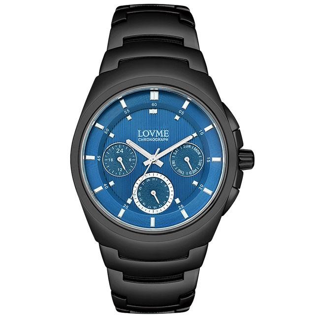 LOVME 365系列手錶-IP黑x藍