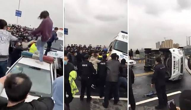 Coronavirus: police, public clash as border reopens between Hubei and Jiangxi provinces
