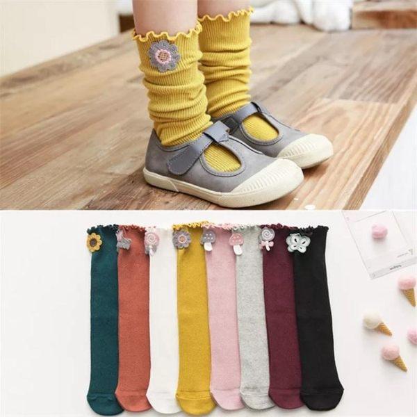 兒童中筒襪夏季薄款嬰兒長筒襪純棉公主堆堆襪韓春秋寶寶長襪子