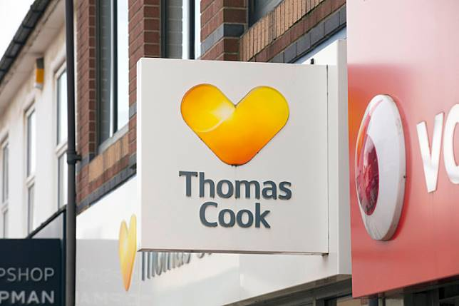 Thomas Cook travel agents sign in Scunthorpe, Lincolnshire, United Kingdom