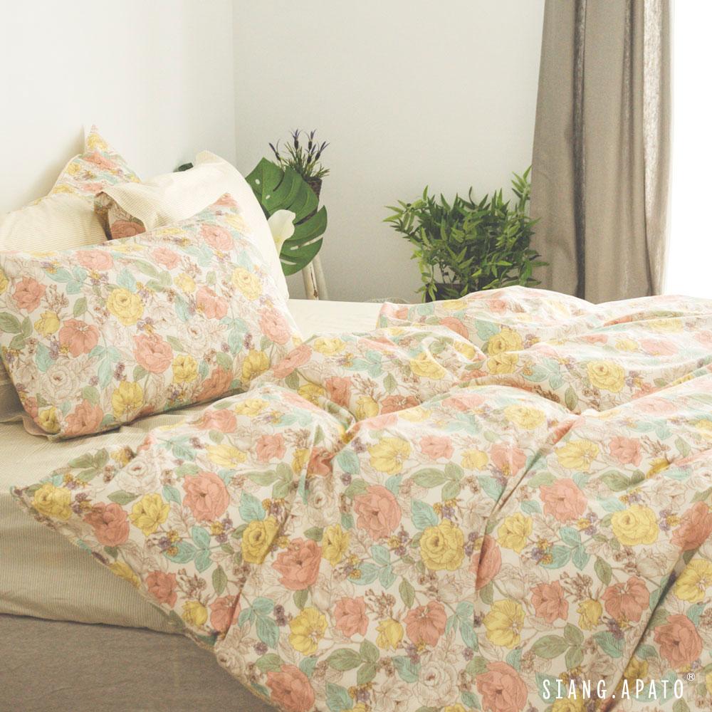 床包被套組(薄被套)-雙人 / 100% 精梳純棉 / Blossom