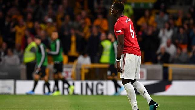 Gelandang Manchester United (MU), Paul Pogba (PAUL ELLIS / AFP)