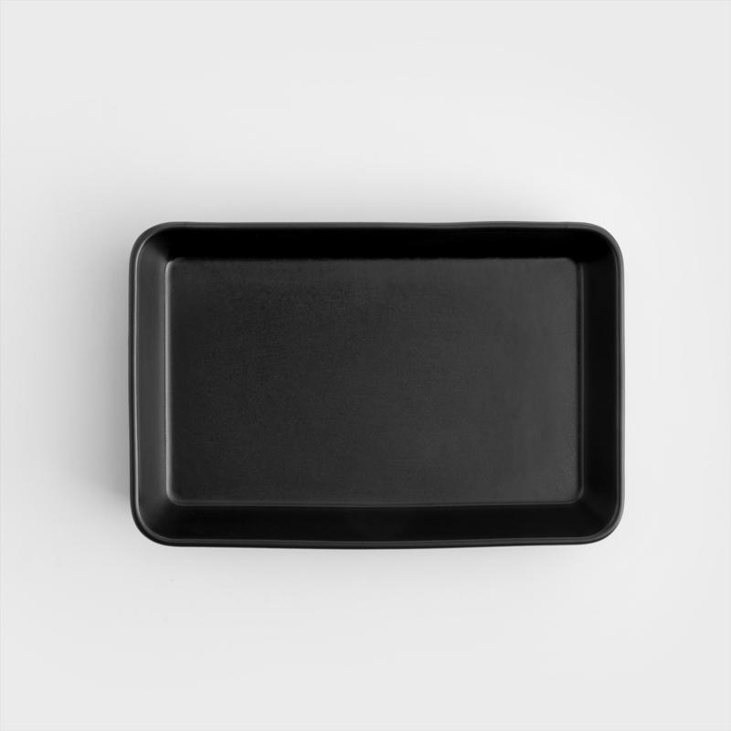 北歐風 啞光磨砂 21cm 長方焗盤|三色可選|單品 純黑
