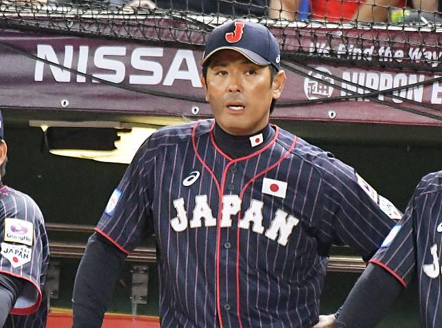 世界12強棒球賽日本隊總教練稻葉篤紀。(圖/記者葉政勳攝)
