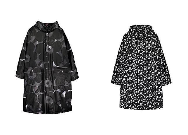 特別為雨季而設的印花雨衣,無論陰天晴天都可以穿出時尚快樂好心情。(互聯網)