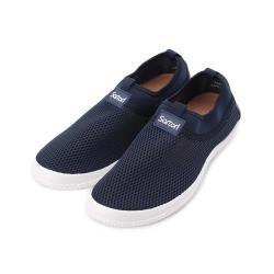 SARTORI 網布皮墊休閒鞋 藍 男鞋 鞋全家福