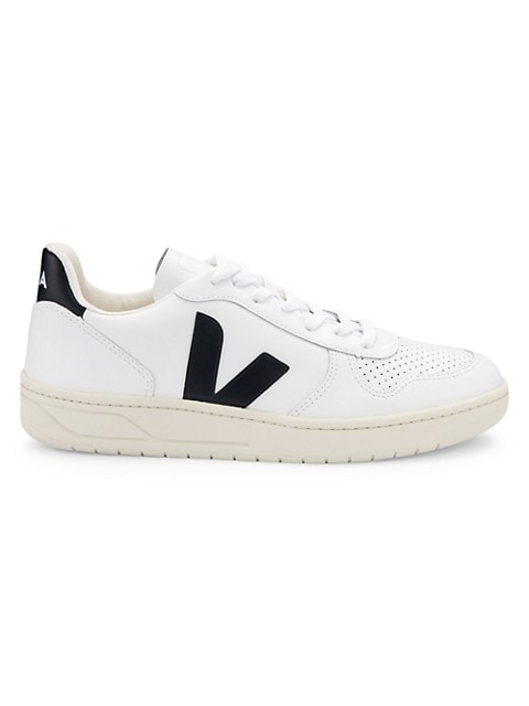 Low-top sneakers featuring signature styling and a soft leather finish. This sneaker is crafted usin