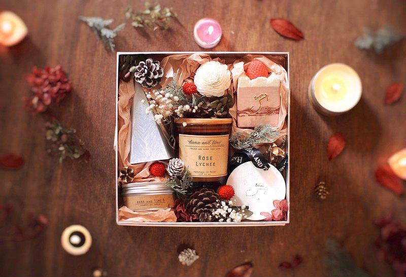 香氛禮盒/手寫文字蠟燭/蠟燭山/星座香石/手工皂/聖誕/生日禮物