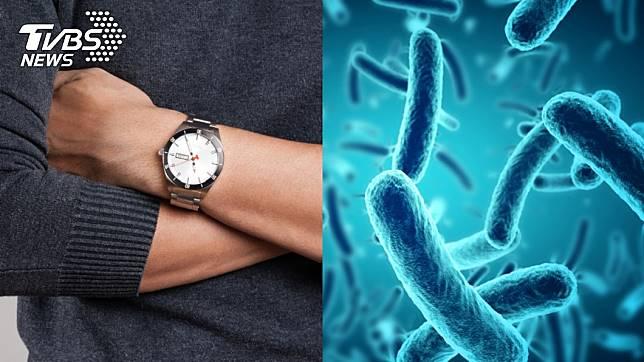 手錶錶帶的細菌含量平均式是馬桶座的3.1倍。示意圖/TVBS