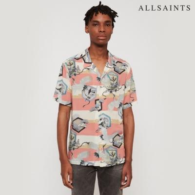 SHIELD SS 夏威夷印花襯衫 靈感來自日本和服 飾有鶴與盆景印花