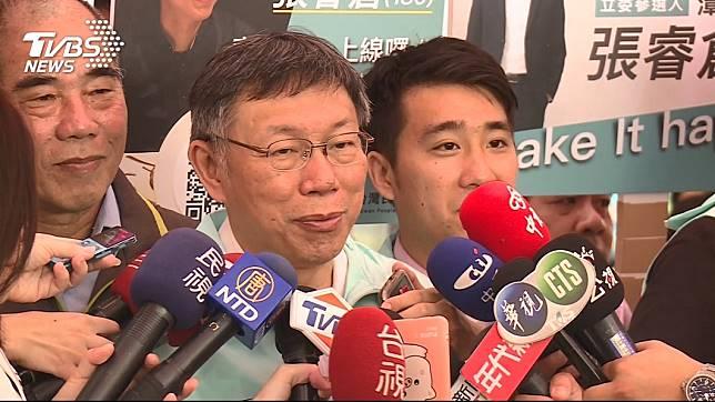 台北市長、台灣民眾黨主席柯文哲今(13日)至台中輔選。圖/TVBS