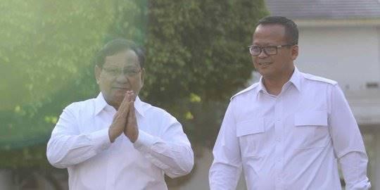 Prabowo dan Edhy Prabowo di Istana. ©2019 Liputan6.com/Angga Yuniar