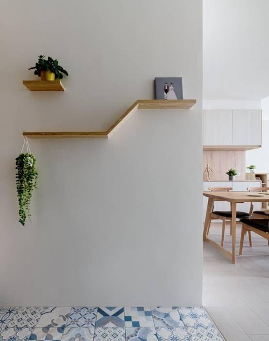 牆上木作層板