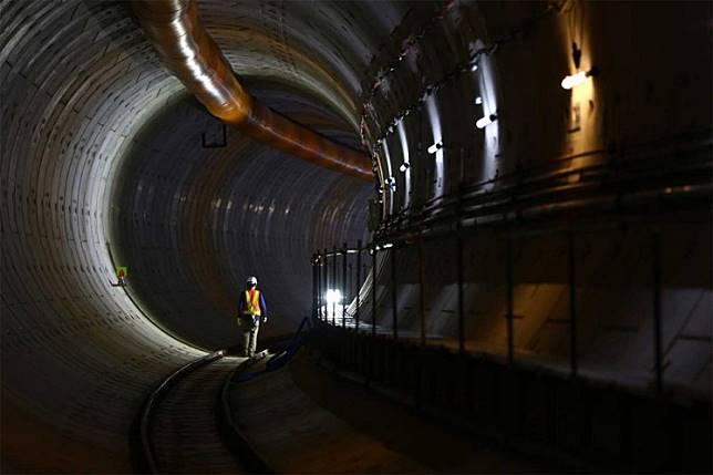 MRT Jakarta tunnel.