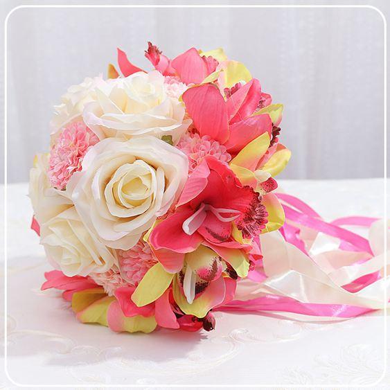 新娘手捧花韓式婚禮結婚仿真假花手拋花球森系創意攝影道具